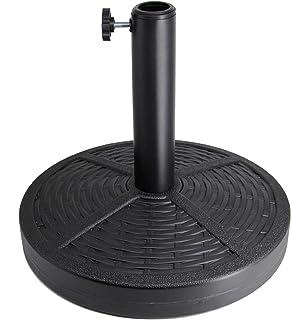 Sfozstra 26.5 lbs Patio Umbrella Base, Concrete Umbrella Base, Market Umbrella Stand, Black