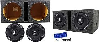 "$264 » Sponsored Ad - (2) Rockville W12K6D2 V2 12"" 4800w Car Audio Subwoofers+Vented Sub Box Enclosure"