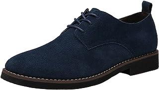 DADAWEN Homme Chaussures de Ville en suédé