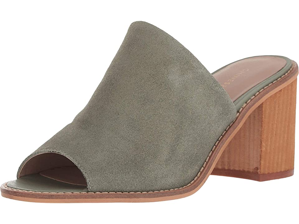 Chinese Laundry Carlin (Olive Split Suede) Women's Clog/Mule Shoes, Green