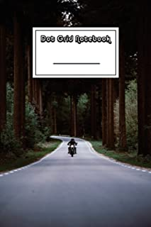 Dot Grid Notebook: Easy Rider on Forest Road Notebook - Beautiful 100-Page Dotted Bullet Work Book to Write in - Stylish 6...