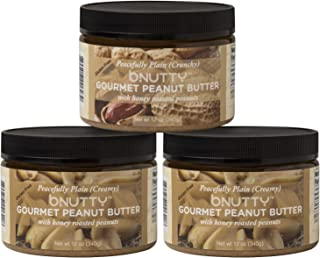 B.Nutty: Gourmet Peanut Butter - Variety of Delicious Flavors - Small-Batched - Natural Peanut Butter - Gluten Free Ingredients - USA Made