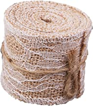 PIXNOR Lace Ribbon Roll Brown