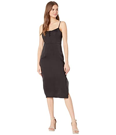 BCBGeneration Button Front Slip Dress ULL6189954 (Black) Women