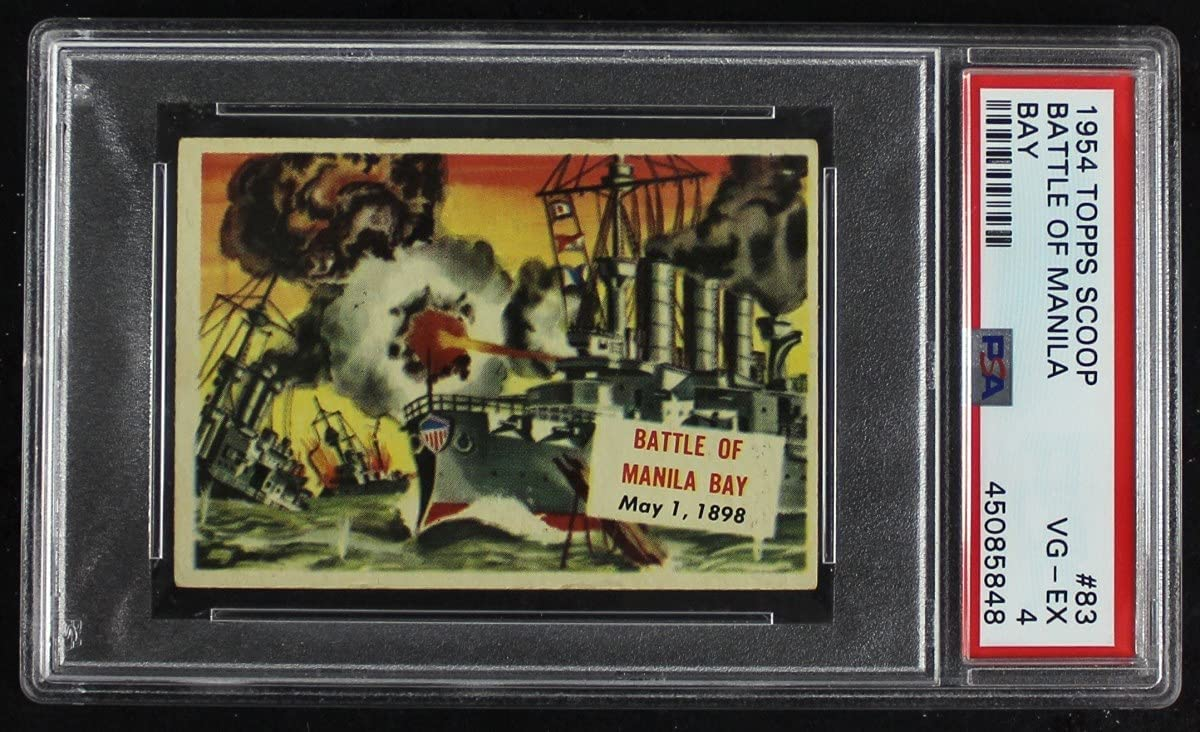 1954 Topps # 83 quality assurance xCOA Battle Of Card Without Bay Coatin Cash special price Manila