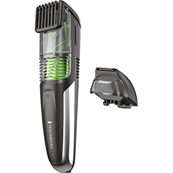 Remington MB6850 Vacuum Stubble and Beard Trimmer, Lithium Power and Adjustable Length Comb w/ 11 Length Settings (2-18mm)