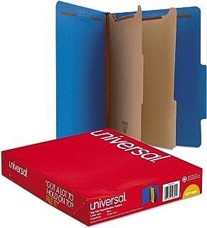 Universal Pressboard Classification Folders, Letter, Six-Section, Cobalt Blue, 10/Box (10301) - Pack 5