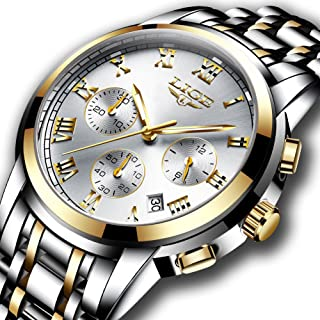 Watches Mens Full Steel Quartz Analog Wrist Watch Men Luxury Brand LIGE Waterproof Date Business Watch …