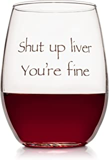 Wedding Wine Gift - Funny Stemless wine glass (15 oz) - Great for Bachelorette Parties - Unique Wine Glasses - Restaurant Quality for Red or White Wine - A fun Gift for Any Wine Lover