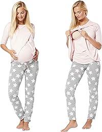 Femme Maternité Pyjama de Nuit Nuisette Grossesse