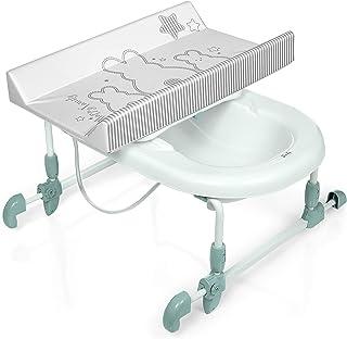 Brevi BAGNOTIME Table à langer adaptable sur baignoire adulte Lapinou Blanc