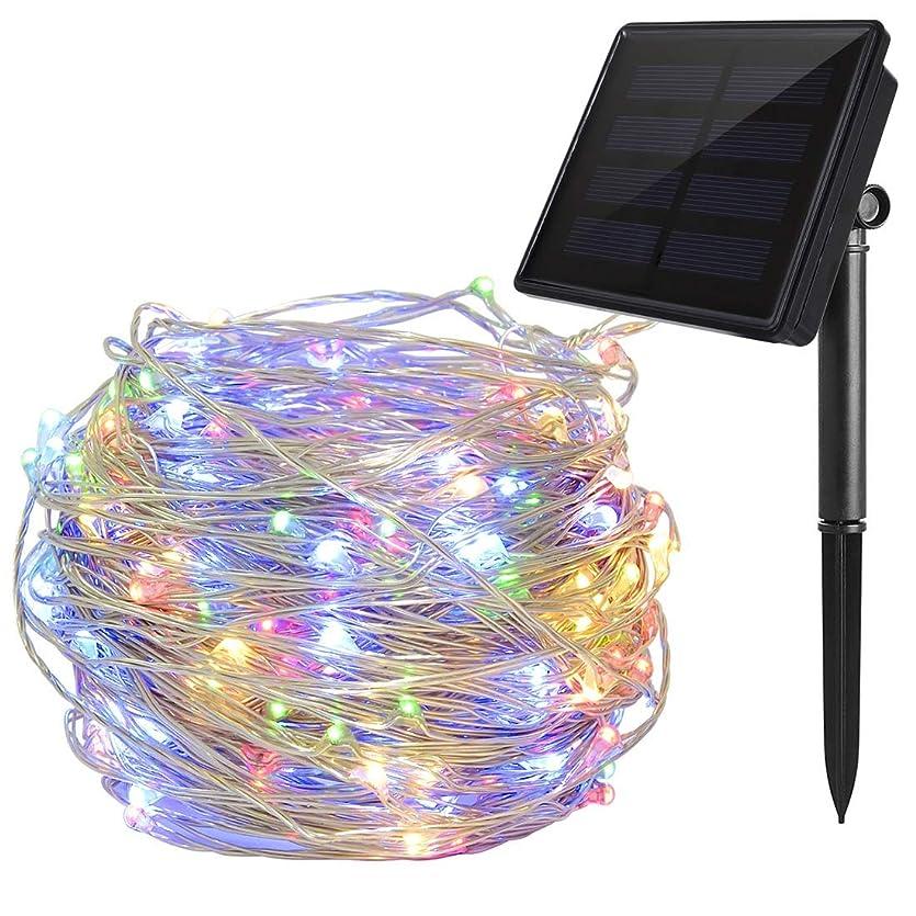 スライス勝つ独創的ソーラーイルミネーションライト マルチカラー Ankway 200 LED 3本撚り 銅線 ソーラーストリングライト ソーラーライト22m 8モード 防水 IP65 屋外 屋内 中庭 ガーデン デコレーション インテリア