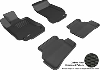 3D MAXpider Complete Set Custom Fit All-Weather Floor Mat for Select Mercedes-Benz C-Class Models - Kagu Rubber (Black)