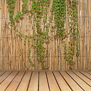 FOREVER BAMBOO Jumbo Reed Bamboo Screen Fence (Natural, 6 ft. H x 16 ft. L)