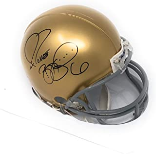 Jerome Bettis Pittsburgh Notre Dame Fighting Irish Autograph Mini Helmet Bettis Bus Hologram Certified