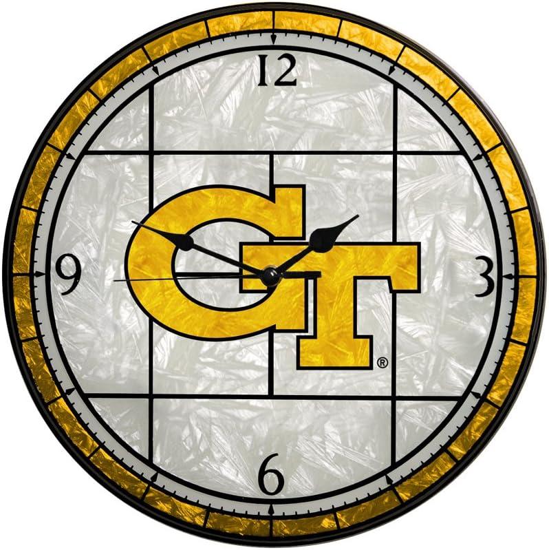 Ranking TOP16 Memory Company Georgia Tech Yellow security Clock Glass Art Jackets12in