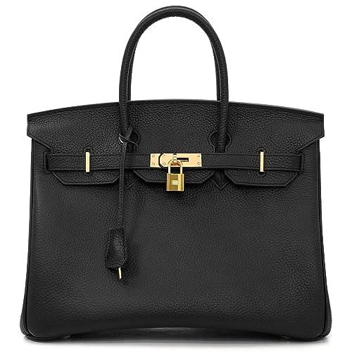 be476cba54d MACTON Cowskin European and American Classic Padlock Genuine Leather  Handbag Mc-1329