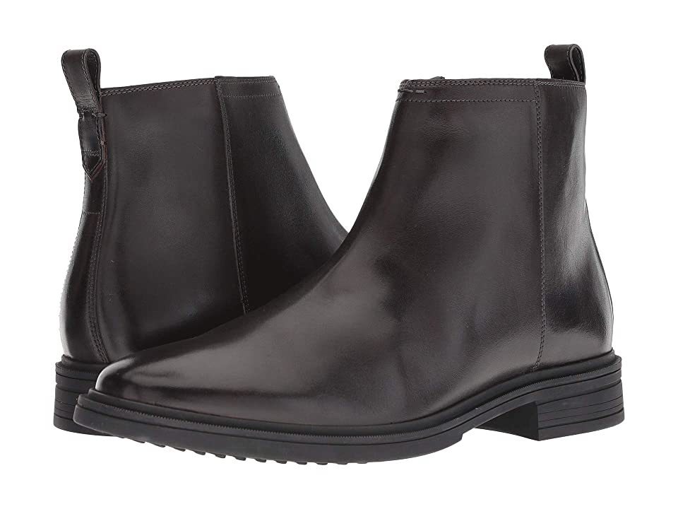 Cole Haan Bernard Zip Boot (Dark Roast/Black) Men