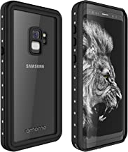 AMORNO Galaxy S9 Waterproof Case, Waterproof Shockproof Dustproof Dirtproof Full Body Case Built in Screen Protector with Touch ID for Samsung Galaxy S9