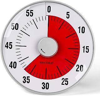 Secura Temporizador de contagem regressiva visual grande de 19 cm, temporizador de cozinha de 60 minutos | ferramenta de g...