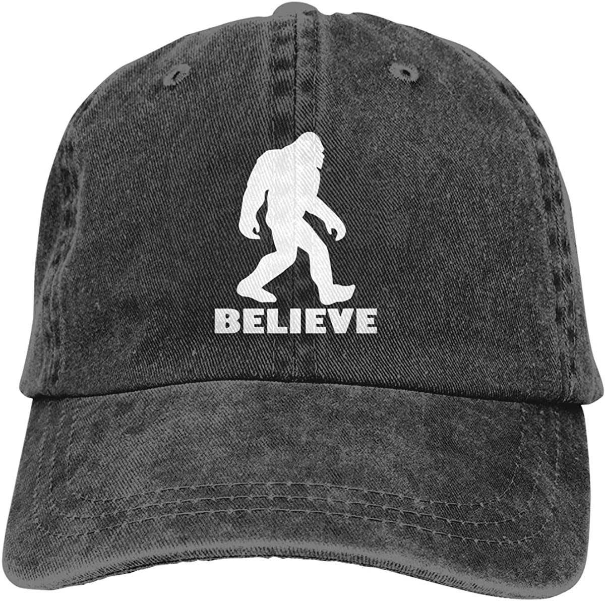 MSGUIDE Reservation Women's I Believe Bigfoot Dad Washed Hat Choice Adjusta Vintage