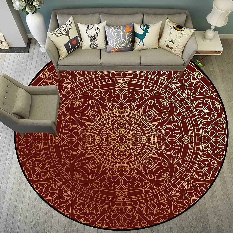 Round Floor mat Bathroom Round Indoor Floor mat Entrance Circle Floor mat for Office Chair Wood Floor Circle Floor mat Office Round mat for Living Room Pattern 5'3  Diameter