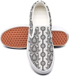Vosda Men Paisley Skulls Seamless Pattern Walking Shoes for Mens Lightweight Air Running Shoes