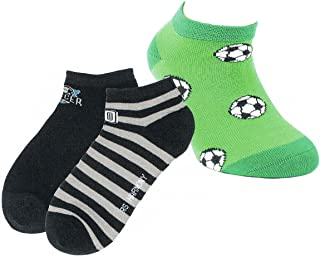 RS Jungen Sneakers Strümpfe Socken 3er Pack Torjäger Fußball Füßlinge