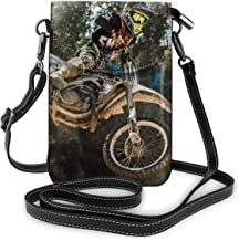 Women Ladies Girls Roomy Pockets Cell Phone Carry Case Pouch Handbag Credit Card Document Organizer, Waterproof, Excersise Running bag - Motocross Sport Motorcycle Vehicle