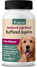 NaturVet – Buffered Aspirin for Dogs – 75 Chewable Tablets – Provides Temporary Relief from Pain & Inflammation