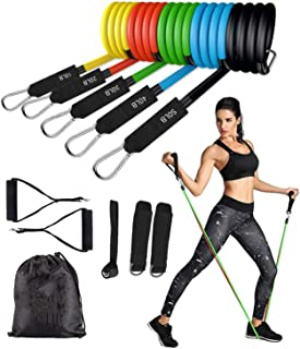 Resistance Bands Set (11pcs) for Resistance Training, Physical Therapy, Home Workout, Yoga, Pilates, Stackable up to 150 l...