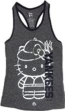 New York Yankees Girls Youth Grey Tri-Blend Shiny Hello Kitty Wordmark Tank Top