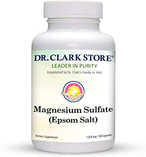 Dr. Clark Magnesium Sulphate USP (Epsom Salt) - Dietary Supplement, Laxatives For Constipation, Liver And Gallbladder Clea...