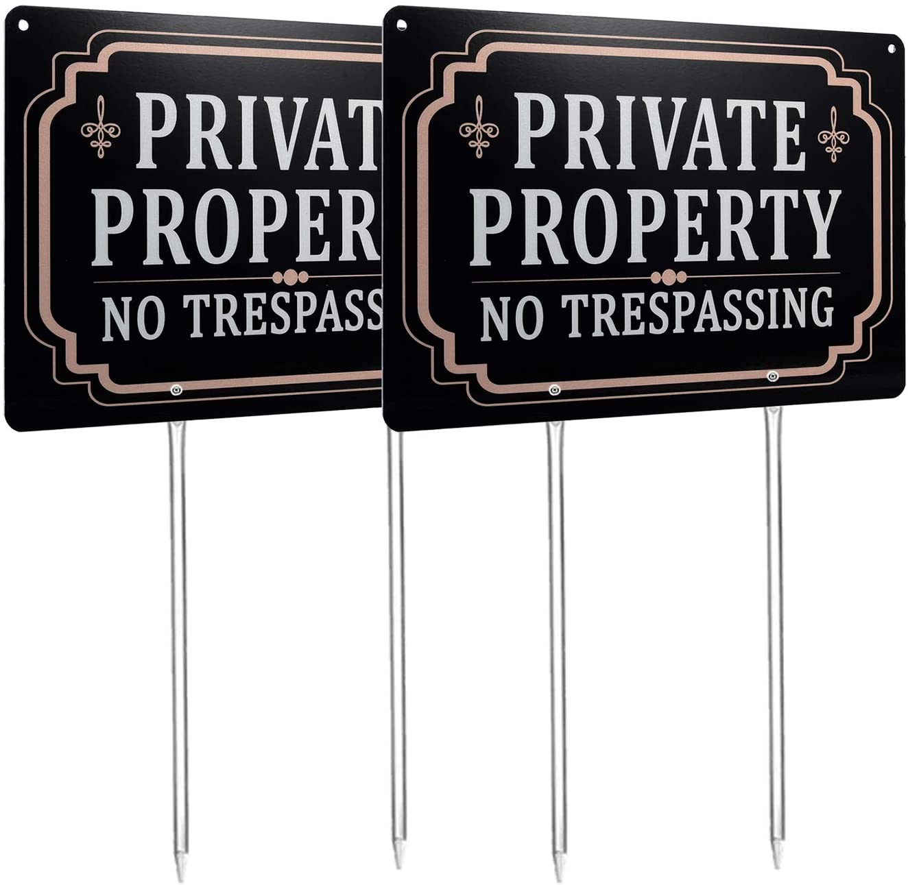 Kichwit Private Property No Trespassing Sign 11.8
