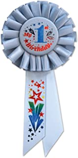 Beistle My 1st Birthday Rosette, 3-1/4 by 6-1/2-Inch