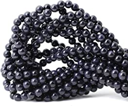 Qiwan 60PCS 6mm Natural Blue Sand Goldstone Gemstone Round Loose Beads for Jewelry Making 1 Strand 15