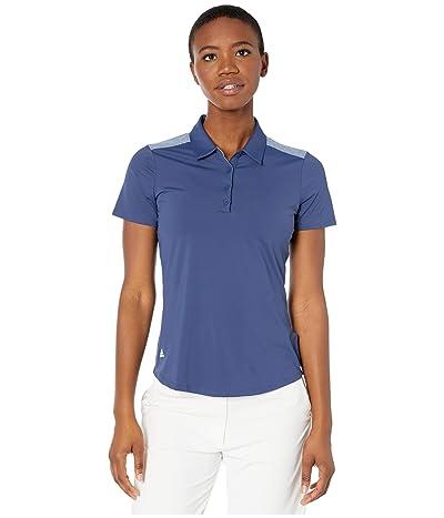 adidas Golf Ultimate365 Short Sleeve Polo (Tech Indigo) Women