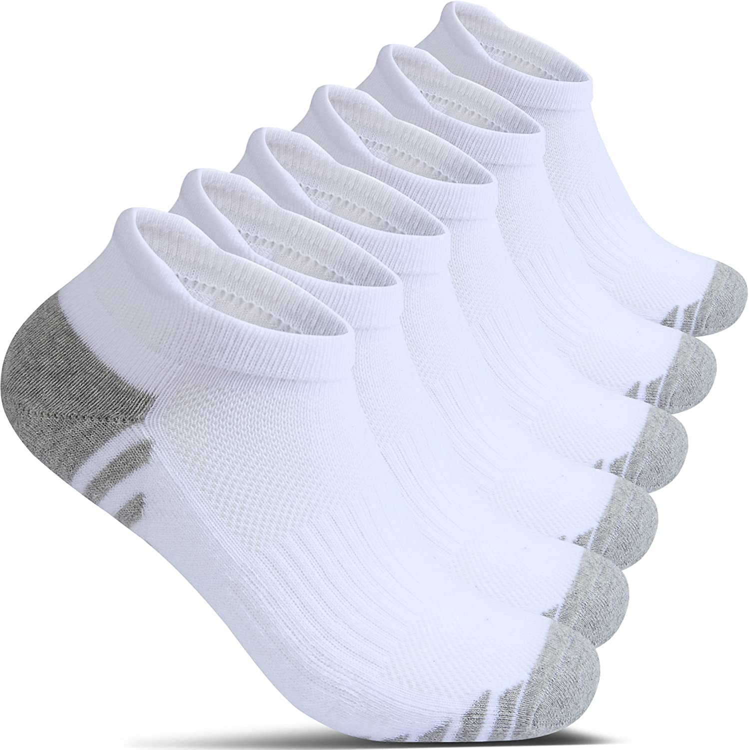 Cotton No Show Socks for Fees free Men gift With Ankle Cushion Tab Compre Heel