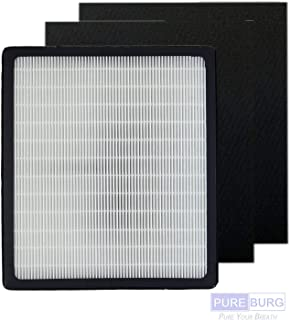 Pureburg Replacement 1 HEPA Filter and 2 Carbon Filters for Idylis Type D IAF-H-100D IAP-10-280 AC-2118 AC-2123 Air Purifiers