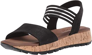 Skechers Women's Footsteps-Markers-Stretch Vamp Sling Back Sandal