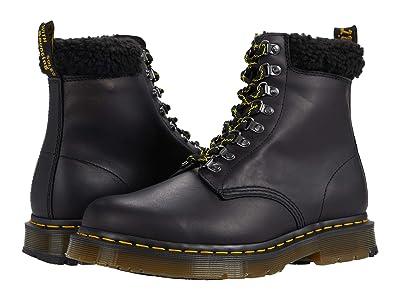 Dr. Martens 1460 Collar (Black Snowplow Waterproof/Borg Fleece) Shoes