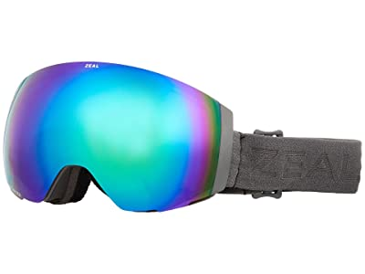 Zeal Optics Portal (Greybird w/ Polarized Jade + Persimmon Sky Blue Lens) Snow Goggles