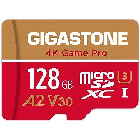 Gigastone 128GB Micro SD Card, 4K Game Pro, Nintendo-Switch SD Card Compatible, A2 Run App, 4K Video Recording, R/W up to 100/50MB/s, Micro SDXC UHS-I A2 V30 U3 C10 Class 10