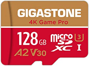 Gigastone 128GB Micro SD Card, 4K Game Pro, Nintendo Switch Compatible, A2 Run App, 4K Video Recording, R/W up to 100/50MB...