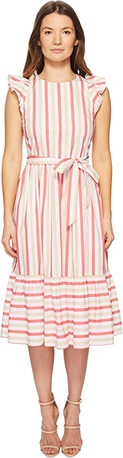 Kate Spade New York Stripe Poplin Midi Dress
