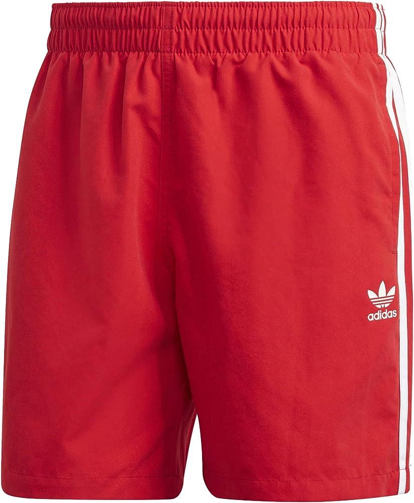 adidas 3 stripes costume da bagno a pantaloncini per uomo 100% poliestere ad182h00m-g11