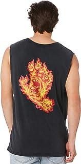 Santa Cruz Men's Flame Hand Mens Muscle Sleeveless Cotton Black