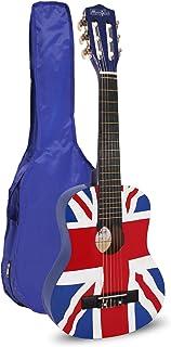 Music Alley MA-56 Klassieke Akoestische Gitaar Kids Gitaar en Junior Guitar Union Jack