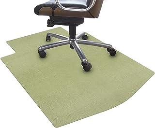 サンコー ズレない チェアマット おくだけ吸着 デスク 床保護マット T字型 グリーン