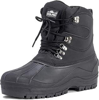 Mens Snow Waterproof Duck Hiking Bean Hiker Walking Short Ankle Boots